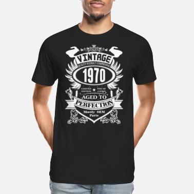 Aged Vintage 1970 Aged To Perfection - Men's Organic T-Shirt