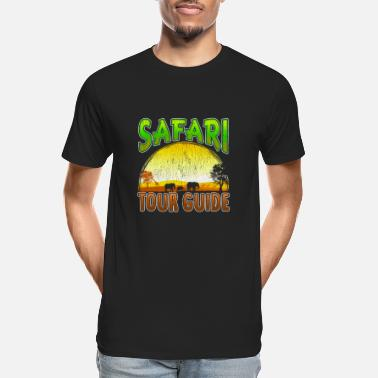 Tanzania Safari Tour Guide Sunset African Animal - Men's Organic T-Shirt