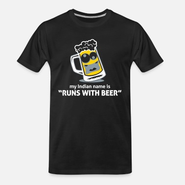 Carlsberg My Indian Name Is Runs With Beer! - Men's Organic T-Shirt