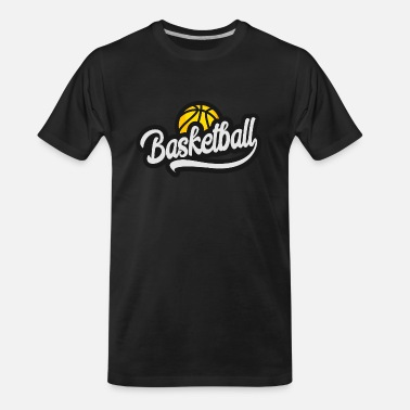 BASKETBALL YELLOW - Men's Organic T-Shirt