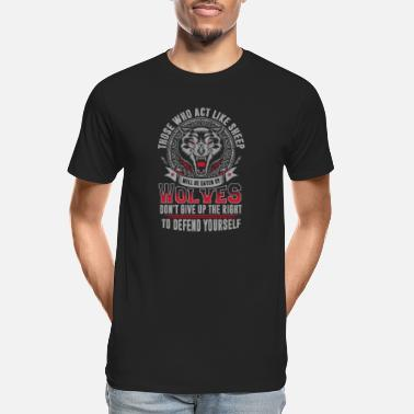 Vfl Wolves - Wolves - those who act like sheep will - Men's Organic T-Shirt