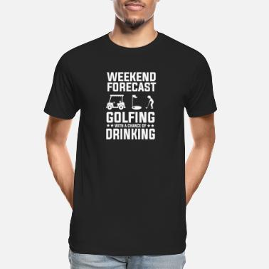 Chance Of Drinking Golfing with a Chance of Drinking - Men's Organic T-Shirt
