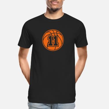 11 Basketball Vector 1_color TAS - Men's Organic T-Shirt
