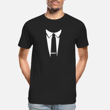 Witty Tux Funny Witty - Men's Organic T-Shirt
