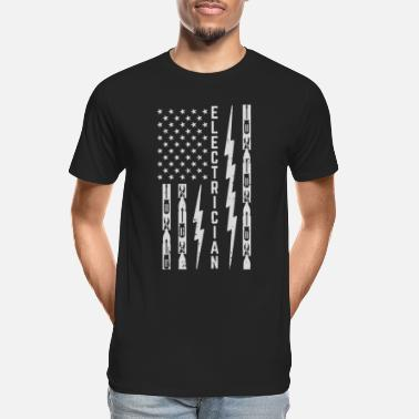 Electrician American Flag USA Sleeveless Performance T-Shirt