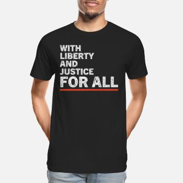 Race With Liberty And Justice For All Retro - Men's Organic T-Shirt