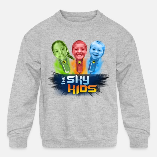 Kids Hoodies & Sweatshirts - Sky Kids 2015 Logo - Kids' Crewneck Sweatshirt heather gray