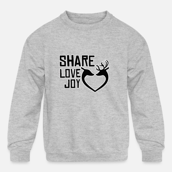 Stag Hoodies & Sweatshirts - Merry Christmas X-Mas XMas - Kids' Crewneck Sweatshirt heather gray