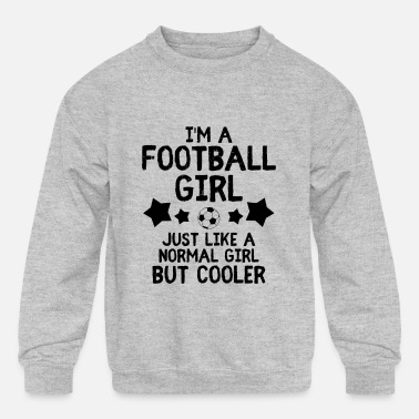 Ultras Football girl soccer saying soccer club - Kids' Crewneck Sweatshirt
