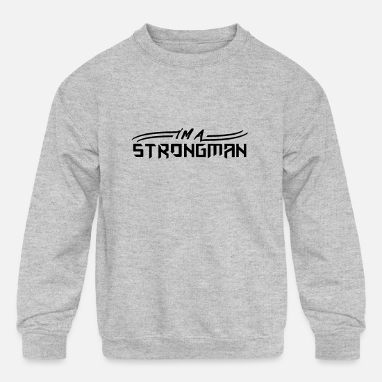 Weightlifting Hoodies & Sweatshirts - Weight Lift - Kids' Crewneck Sweatshirt heather gray