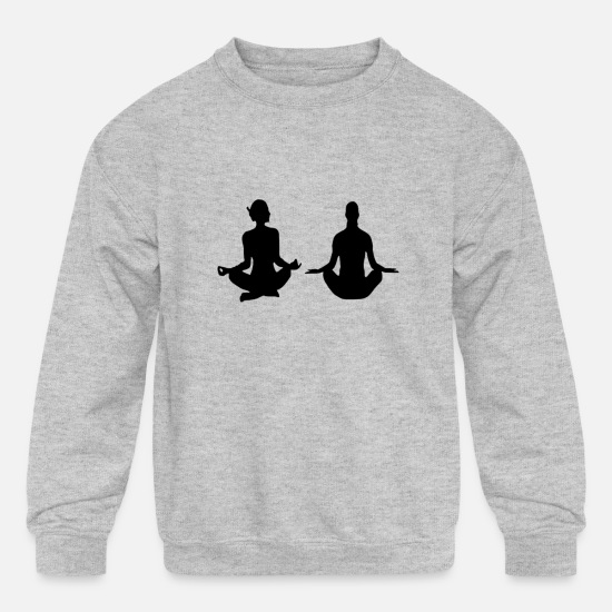 Meditation Hoodies & Sweatshirts - Meditation - Kids' Crewneck Sweatshirt heather gray