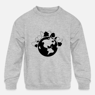 Earth Earth - Kids' Crewneck Sweatshirt