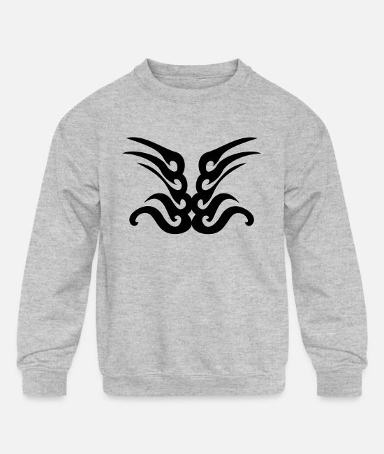 Graphic Art Hoodies & Sweatshirts - TATOO 2 - Kids' Crewneck Sweatshirt heather gray