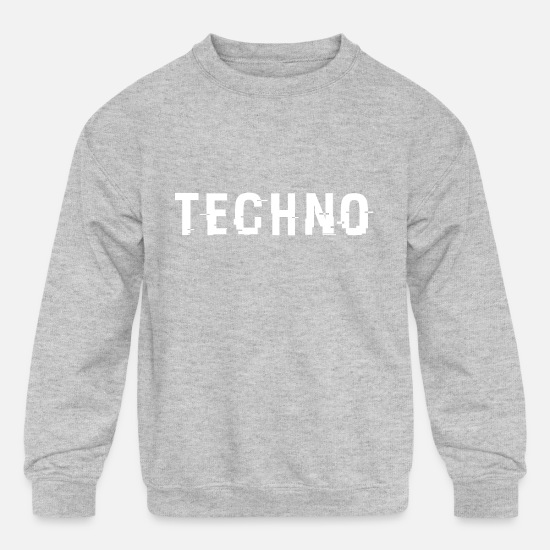 Techno Hoodies & Sweatshirts - Techo Hacked White - Kids' Crewneck Sweatshirt heather gray