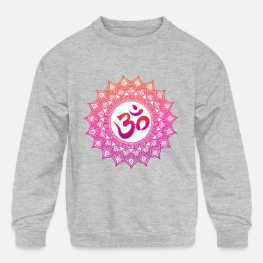 My Icon Big Boys Hindu Symbol OM Kids Hoodie