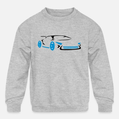 Cool car racing sports car racing - Kids' Crewneck Sweatshirt