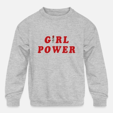 girl power - Kids' Crewneck Sweatshirt
