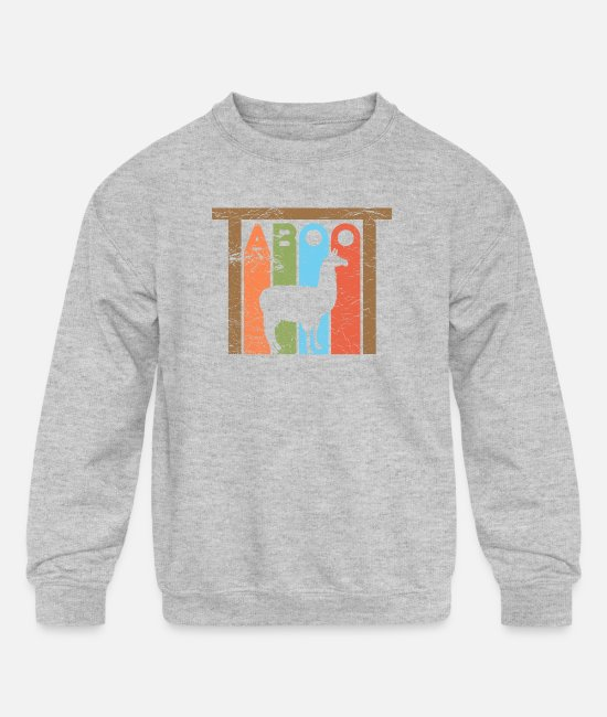 Phish Tote Hoodies & Sweatshirts - Phish Llama Taboot Phish Shirts and Apparel - Kids' Crewneck Sweatshirt heather gray