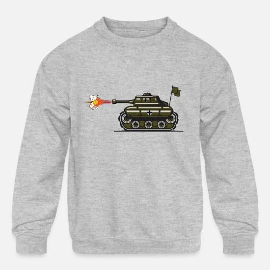Tank Hoodies & Sweatshirts - Tank kambbom - Kids' Crewneck Sweatshirt heather gray