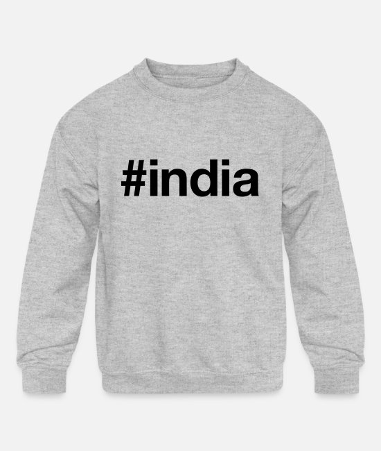 Delhi Hoodies & Sweatshirts - INDIA - Kids' Crewneck Sweatshirt heather gray