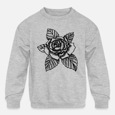 Rose Rose - drawing rose - Kids' Crewneck Sweatshirt