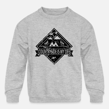 Countryside COUNTRYSID is my life - Kids' Crewneck Sweatshirt