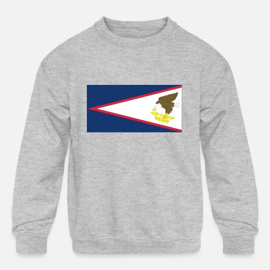 Samoa Hoodies & Sweatshirts - samoa islands - Kids' Crewneck Sweatshirt heather gray