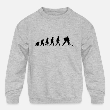Evolution Hockey Player Puck Stick Winter Sports - Kids' Crewneck Sweatshirt