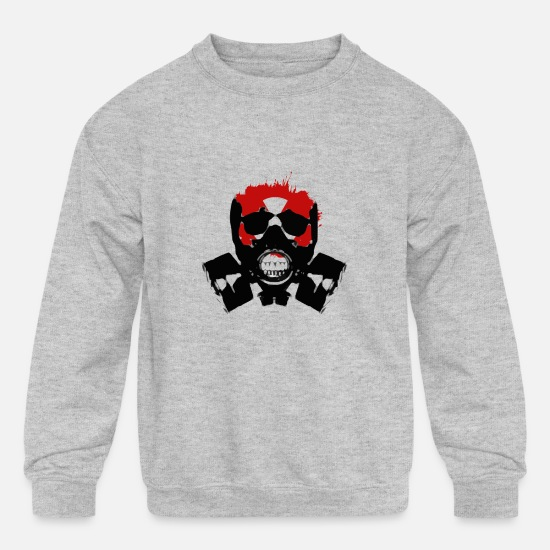 Atomic Bomb Hoodies & Sweatshirts - Isolated - Kids' Crewneck Sweatshirt heather gray