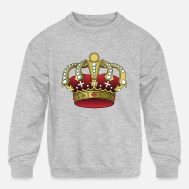 Crown King Empire Jewels Jewelry Rich Prince Gift - Kids' Crewneck Sweatshirt