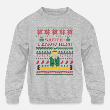 Ugly Christmas Elf Christmas Sweater - Kids' Crewneck Sweatshirt