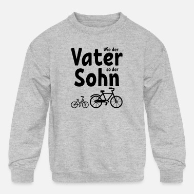 Present Like the father like the son bike bike gift - Kids' Crewneck Sweatshirt