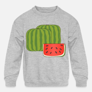Porker Cubical watermelon - Kids' Crewneck Sweatshirt