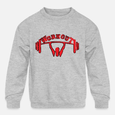 Crossfit workout crossfit - Kids' Crewneck Sweatshirt
