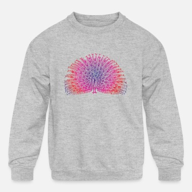 Bright Colors Bright Colorful Peacock - Kids' Crewneck Sweatshirt