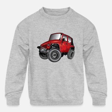 JEEP CHARCOAL CREW NECK Pullover Sweatshirt Wrangler Crewneck Cherokee Off Road