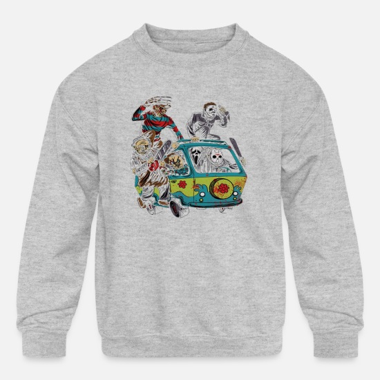 Horror Hoodies & Sweatshirts - Horror film - Kids' Crewneck Sweatshirt heather gray