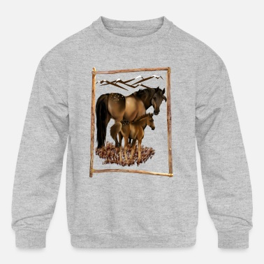 Mare Mare and Baby - Kids' Crewneck Sweatshirt