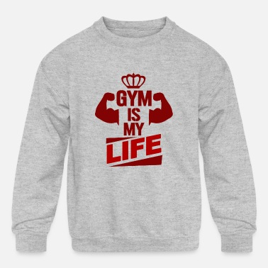 Gym Gym Gym Gym - Kids' Crewneck Sweatshirt