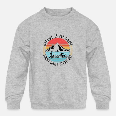 Great Ideas For Hikers hiking equipment hiker gift idea hiking apparel - Kids' Crewneck Sweatshirt
