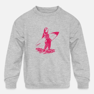Hot Girl Hot Surfer Girl - Kids' Crewneck Sweatshirt