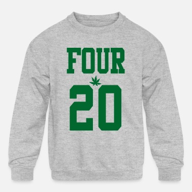 420 Hemp Cannabis Lover Stoners Birthday - Kids' Crewneck Sweatshirt