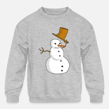 Snowman Mr. Snowman - Kids' Crewneck Sweatshirt