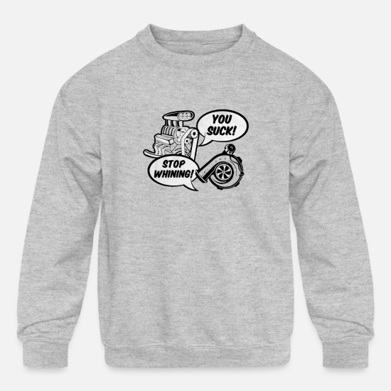 Turbo Hoodies & Sweatshirts - Supercharger v Turbo - Kids' Crewneck Sweatshirt heather gray