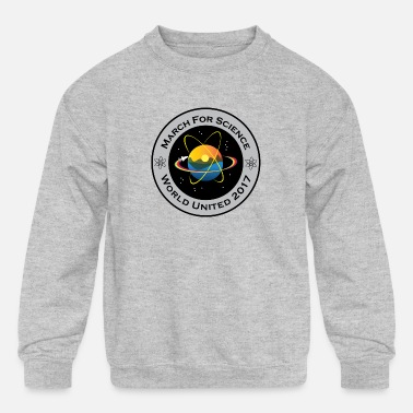 march for science astronaut - Kids' Crewneck Sweatshirt