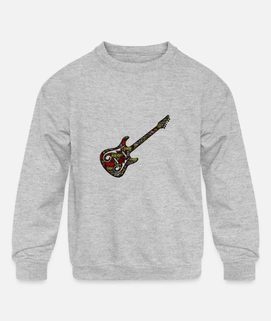 Anastasio Hoodies & Sweatshirts - Phish Shirt Waste Lyrics Phish Guitar Apparel - Kids' Crewneck Sweatshirt heather gray
