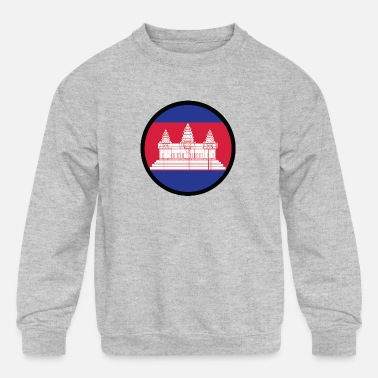 Krama Under The Sign Of Cambodia - Kids' Crewneck Sweatshirt