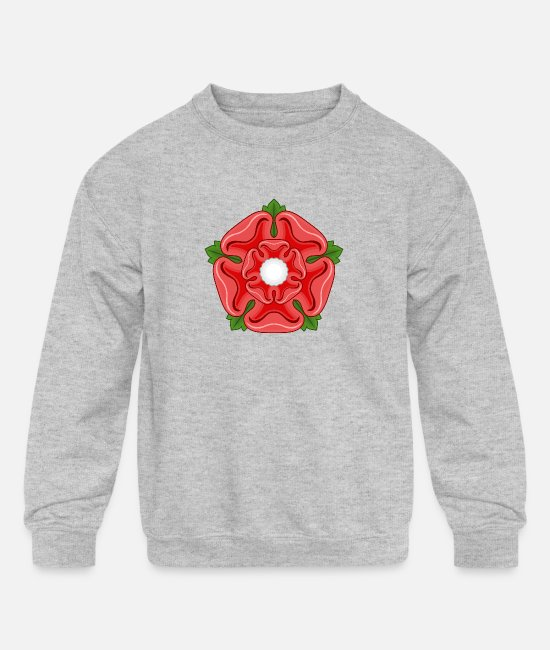 Lancashire Hoodies & Sweatshirts - Red Rose of Lancaster Lancashire - Kids' Crewneck Sweatshirt heather gray