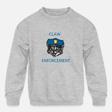 Svu claw enforcement cat - Kids' Crewneck Sweatshirt