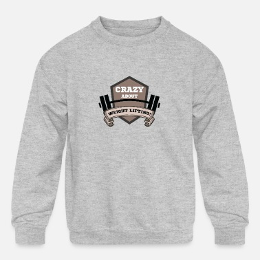 Weight Lift weight lifting - Kids' Crewneck Sweatshirt